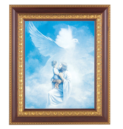 Christ Welcoming Child Cherry Frame 10.25X12.25-inch 8X10 Print