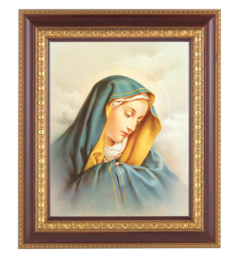 Our Lady of Sorrows In Cherry Frame 10.25X12.25-inch 8X10 Print