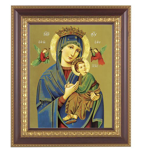 Our Lady Of Perpetual Help Cherry Frame 10.25X12.25-inch 8X10 Print