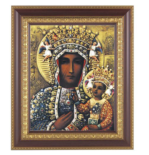 Our Lady of Czestochowa In Cherry Frame 10.25X12.25-inch 8X10 Print