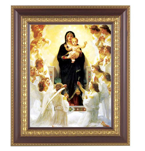 Bouguereau: Queen Of The Angels Cherry Frame 10.25X12.25-inch 8X10Prt