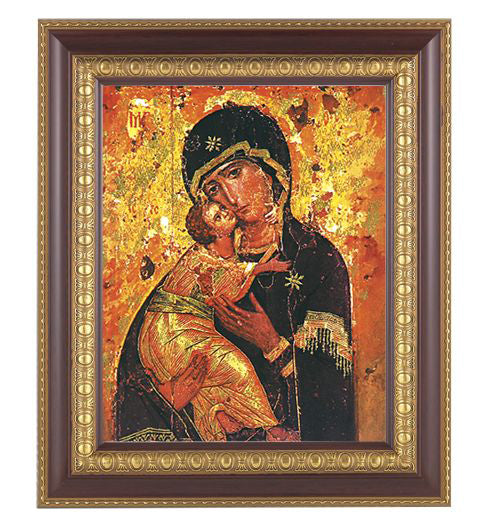 Our Lady Of Vladimir In Cherry Frame 10.25X12.25-inch 8X10 Print