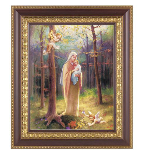 Madonna Of The Woods Cherry Frame 10.25X12.25-inch 8X10 Print