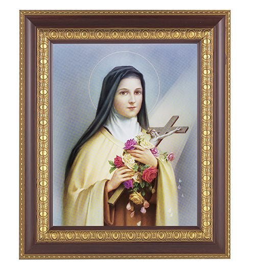 Saint Therese In Cherry Frame 10.25X12.25-inch 8X10 Print