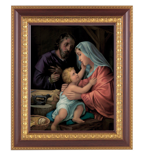 Holy Family In Cherry Frame 10.25X12.25-inch 8X10 Print
