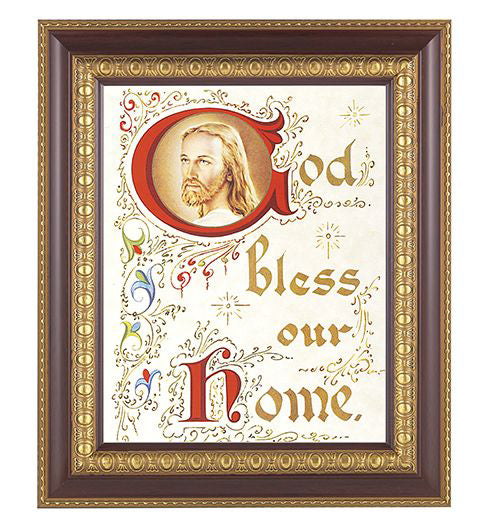 House Blessing-Christ Cherry Frame 8X10 Print