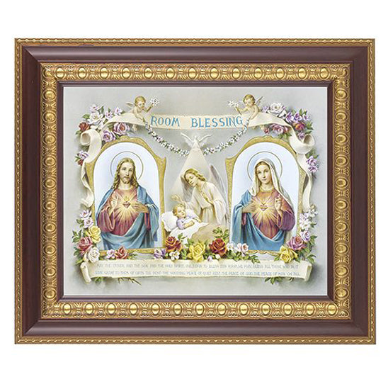 Baby Room Blessing In Cherry Frame 10.25X12.25-inch 8X10 Print