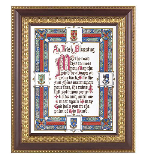 Irish Blessing In Charry Frame 10.25X12.25-inch 8X10 Print