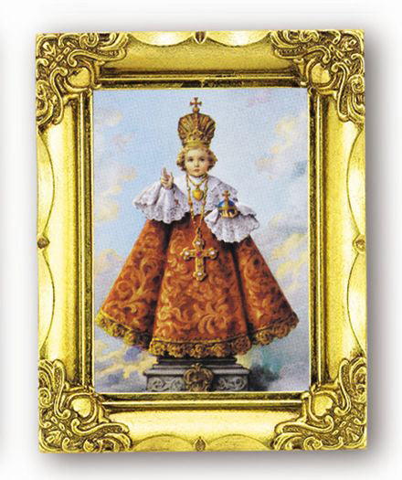Infant Of Prague 4.5-inchX3.5-inchAnt Gold Frame