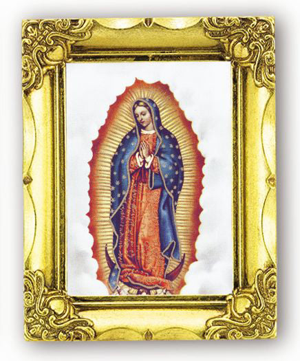 Our Lady Of Guadalupe 4.5-inchX3.5-inch Antique Gold Frame
