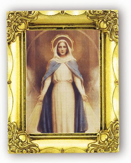 Miraculous Mary 4.5-inchX3.5-inch Antique Gold Frame