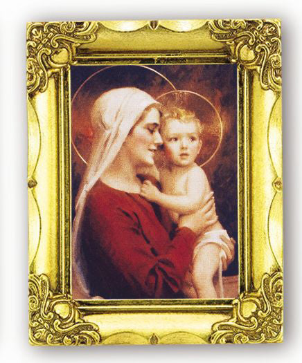 Madonna And Child 4.5-inchX3.5-inch Antique Gold Frame