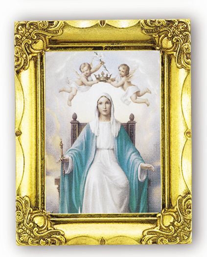 Queen Of Heaven 4.5-inchX3.5-inch Antique Gold Frame