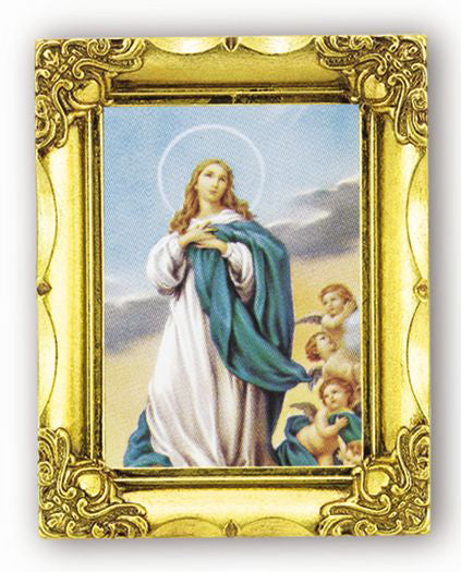 Immaculate Conception 4.5-inchX3.5-inch Antique Gold Frame