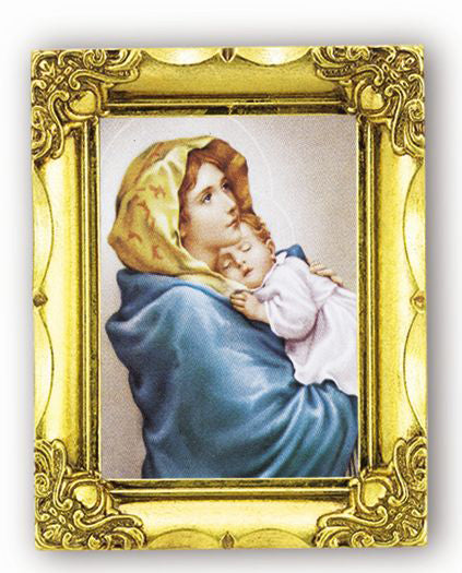 Our Lady of The Streets 4.5-inchX3.5-inch Antique Gold Frame