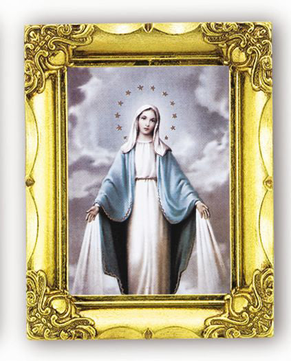 Our Lady Of Grace 4.5-inchX3.5-inch Antique Gold Frame