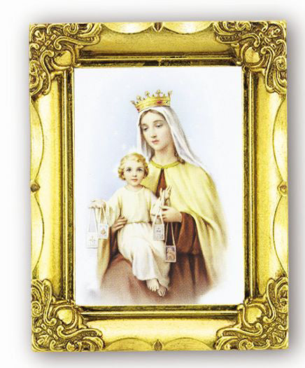 Our Lady Of Mt. Carmel 4.5-inchX3.5-inch Antique Gold Frame