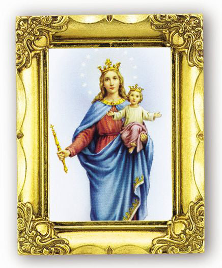 O.L.Help For Christian 4.5X3.5-inch Antique Gold Frame