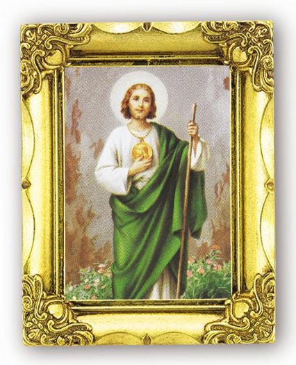 Saint Jude 4.5-inchX3.5-inch Antique Gold Frame