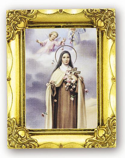 Saint Therese 4.5-inchX3.5-inch Antique Gold Frame