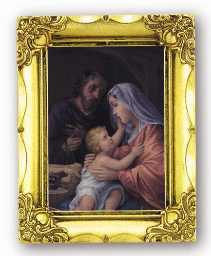 Holy Family 4.5-inchX3.5-inchAnt Gold Frame