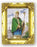 Saint Patrick 4.5-inchX3.5-inch Antique Gold Frame