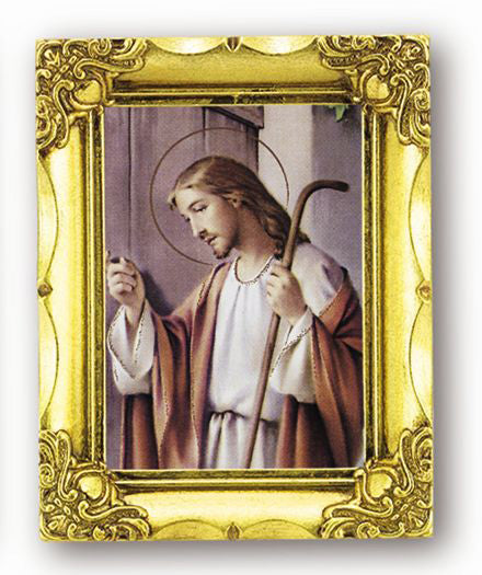 Knocking On Door 4.5-inchX3.5-inch Antique Gold Frame