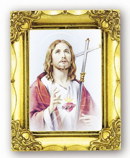 Sacred Heart 4.5-inchX3.5-inch Antique Gold Frame