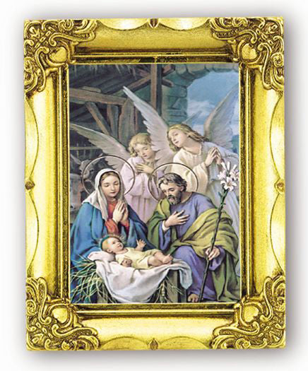 Nativity 4.5-inchX3.5-inch Antique Gold Frame