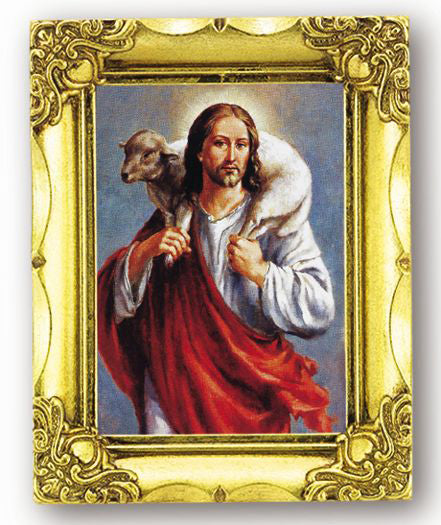 Good Shepherd 4.5-inchX3.5-inch Antique Gold Frame