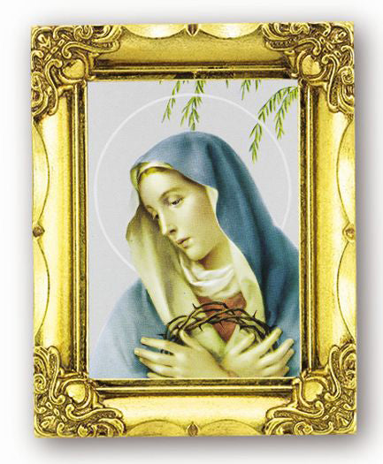 Our Lady Of Sorrows 4.5-inchX3.5-inch Antique Gold Frame