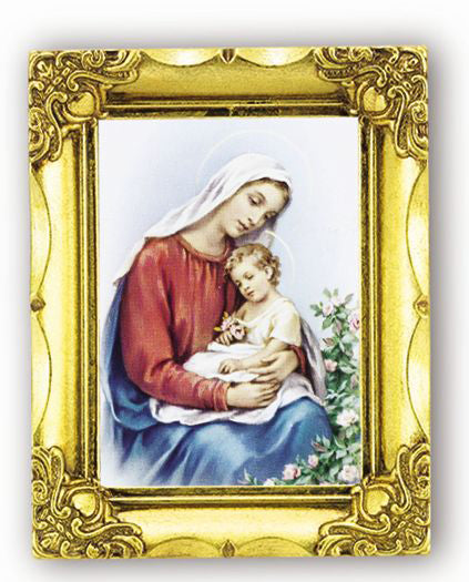 Mother And Child 4.5-inchX3.5-inch Antique Gold Frame