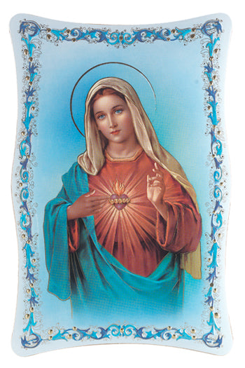 10-inchX15-inch Immaculate Heart Of Mary Plaque