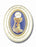 3-inch Gold Embossed Oval Communion Frame