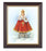 Infant Of Prague In Walnlut Frame 10.25X12.25-inch 8X10 Print