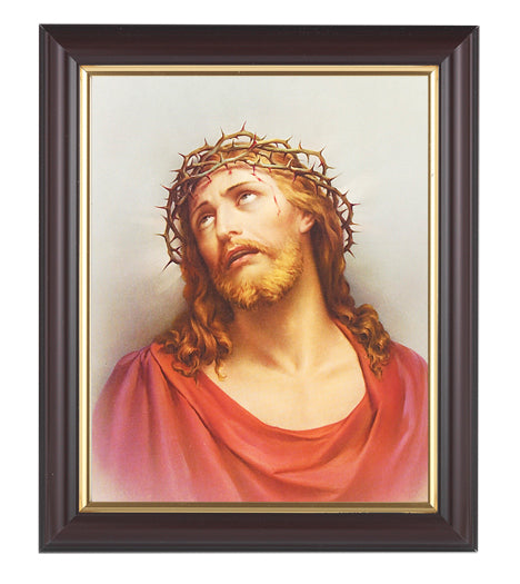 Christ In Agony In Walnut Frame 10.25X12.25-inch 8X10 Print
