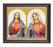 The Sacred Hearts In Walnut Frame 10.25X12.25-inch 8X10 Print