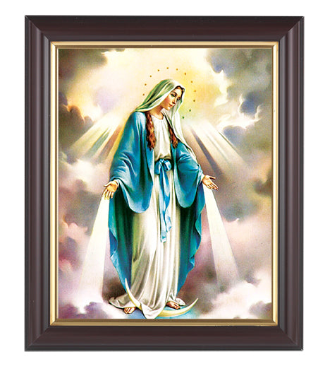 Our Lady Of Grace In Walnut Frame 10.25X12.25-inch 8X10 Print