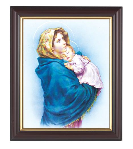 Our Lady Of The Street In Walnut Frame 10.25X12.25-inch 8X10 Print