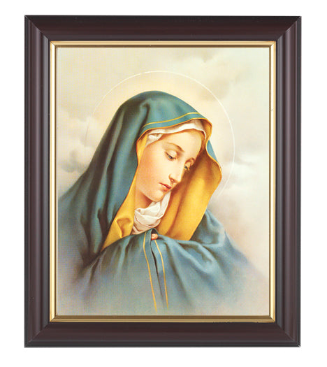 Our Lady of Sorrows In Walnut Frame 10.25X12.25-inch 8X10 Print