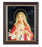 Immaculate Heart Of Mary 8X10 In Walnut Frame 10.25X12.25