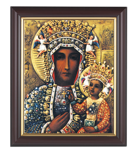 Our Lady of Czestochowa In Walnut Frame 10.25X12.25-inch 8X10 Print