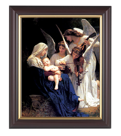 Bouguereau: Heavenly Melodie Walnut Frame 10.25X12.25-inch 8X10Prt