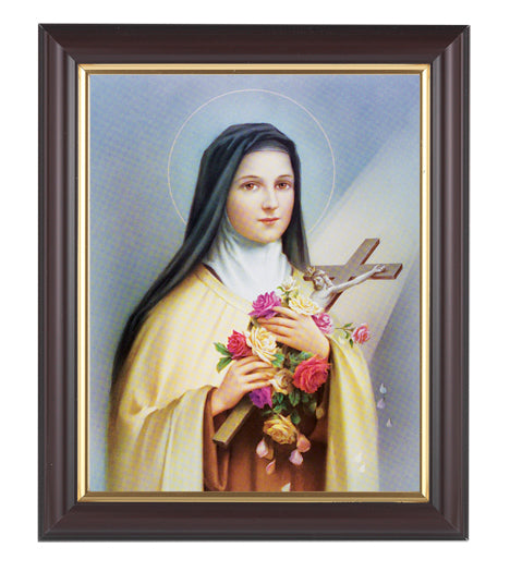 Saint Therese In Walnut Frame 10.25X12.25-inch 8X10 Print