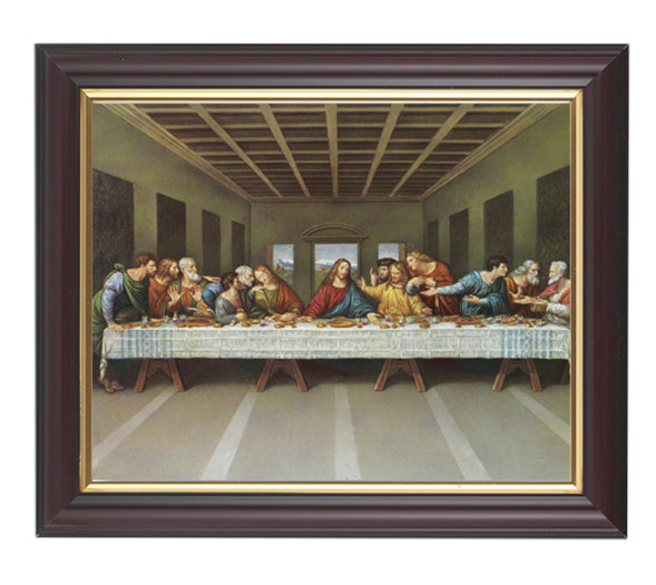 Last Supper In Walnut Frame 10.25X12.25-inch 8X10 Print