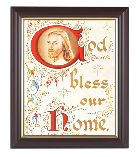 House Blessing-Christ Walnut Frame 10.25X12.25-inch 8X10 Print