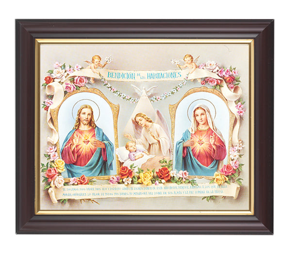 Baby Room Blessing Spanish In Walnut Frame 10.25X12.25-inch 8X10Prt