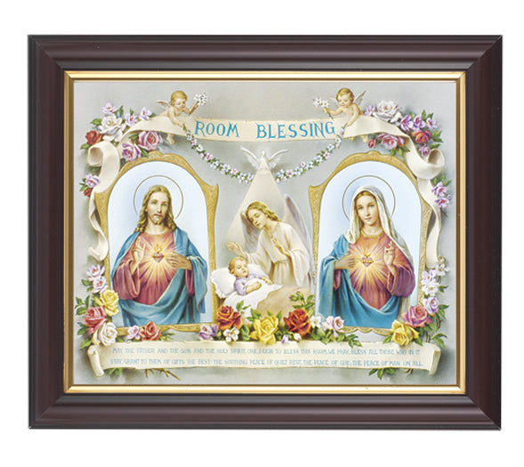 Baby Room Blessing In Walnut Frame 10.25X12.25-inch 8X10 Print