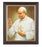 Saint John Paul II In Walnut Frame 8 X 10 Print