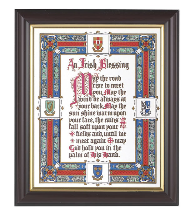 Irish Blessing In Walnut Frame 10.25X12.25-inch 8X10 Print
